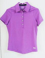 Nwot Womens Cutter & Buck Annika Short Sleeve Polo #Lak04264 Size Small Purple