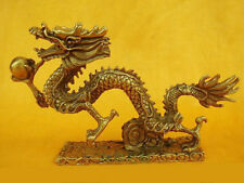 Belle de laiton statue dragon chinois 17X3X11 CMdragons statue