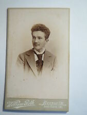 Bernau i. M. - junger Mann im Anzug - Portrait / CDV