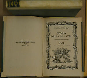STORIA DELLA MIA VITA, VOL. XVII, Casanova, Corbaccio 1926.prima ed. Italiana