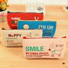 C237 happiness animal canvas pencil bags stationery pen bag pencil cases