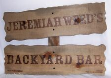NEW JEREMIAH WEED BACKYARD BAR Wooden  Sign COOL!