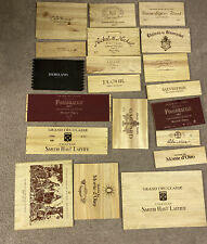 Lot Of 20 Assorted Branded Wooden Wine Wood Panels Box Crate Different! (Lot 58)