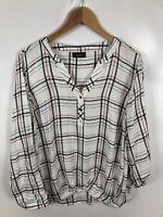 YESSICA Damen Bluse, Shirt, Größe 42, mehrfarbig, kariert, locker, leicht,schick