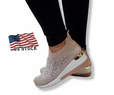 Womens Fashion Running Trainers Ladies Sneakers Slip On Walking Gym Shoes BNIB
