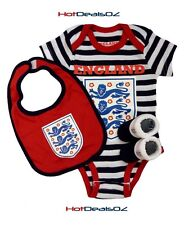Brand New England Football 3 Piece Baby Set Blue - Bodysuit Romper, Booties, Bib