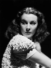 Stampa POSTER VINTAGE PHOTO RITRATTO Vivien Leigh HOLLYWOOD Attrice USA nofl0473