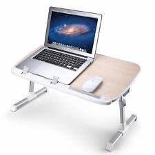 AboveTEK HEIGHT ADJUSTABLE FOLDING LAPTOP TABLE FOR BED DESK MACBOOK STAND RISER