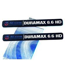 2x OEM Black ALLISON DURAMAX 6.6 HD VORTEC 6.6HD EMBLEMS 2500HD 3500HD Y White