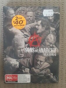Sons Of Anarchy : Season 6 (DVD, 2015, 5-Disc Set) region 4 tv show bikers
