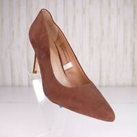 A New Day Faux Suede Brown Pumps Shoes Size 7 M Womens Heels euc