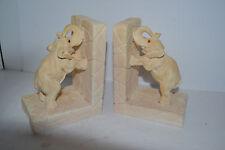 VINTAGE Sandstone Stone ELEPHANT BOOKENDS