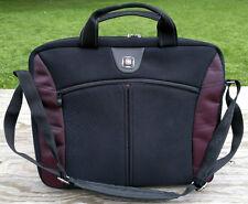 Wenger Swiss Gear Laptop Bag Briefcase Messenger Shoulder Strap Maroon Accents
