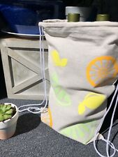 Citrus Drawstring Bag