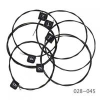 6PCS Nylon String Guitar Strings Black Plating Wire Set for Classical Guitar