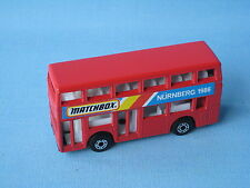 Matchbox MB-17 Titan Bus Nurnberg Trade Fair 1986 red German Promo rare