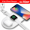 3in1 QI Wireless Charger Charging Station Dock for Apple Watch/iPhone/AirPods A