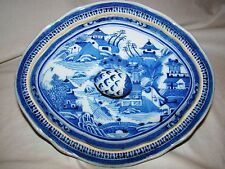 Excellent Chinese Export Porcelain Nanking Blue & White Vegetable Tureen  19th c