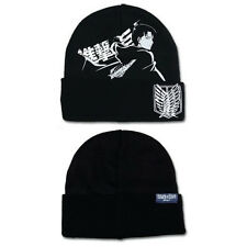 OFFICIAL ATTACK ON TITAN LEVI BLACK BEANIE HAT (BRAND NEW)