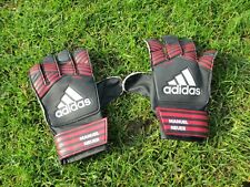 Rare adidas Junior Size: 7 *Manuel Neuer* Black/Red Goalie Goalkeeper Gloves