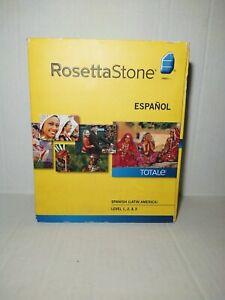 Rosetta Stone ESPANOL - Version 4 - Level 1, 2, 3  (Latin Version) Complete EUC