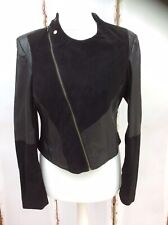 Stunning Firetrap Black Leather & Suede Jacket - BNWT