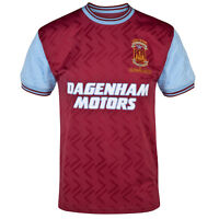West Ham United FC Official Football Gift Mens 1994 Bobby Moore Retro Kit Shirt