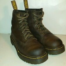 Dr Martens AirWair Combat Work Men's Boots Brown Leather England Sz -5 US-Sz.-6
