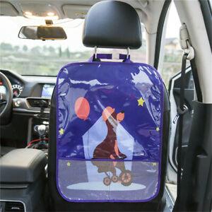 Car Seat Back Protector Cover Children Anti-Kick Mat Storage Bag Tidying LA