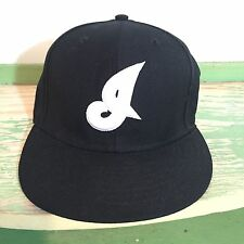 Cleveland Indians Black New Era 59Fifty Fitted Baseball Hat 7 3/8 NWOT