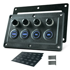 8 Gang LED Switch Panel Car Boat Marine Combination Panel DC12//24V Waterproof EJ