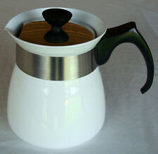VTG Corning Ware White 6 Cup Coffee/Tea Pot w/Lid Cookmates TP-6 Near Mint Cond!