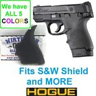 BLACK Hogue Rubber HandAll Beavertail Grip Sleeve S&W M&P Shield 9mm 40S&W