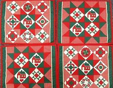 Christmas Placemats Handmade Reversible Set of 4 Country Style