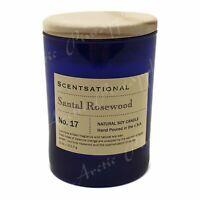 Scentsational Natural Soy Medium 11oz Candle Wooden Lid No. 17 Santal Rosewood