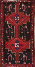 Tribal Geometric Hamadan Birds Area Rug Wool Hand-Knotted Nomad Carpet 4'x7'