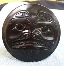 Alaskan Inuit Animal Icon Souvenir Ceramic Eskimo Trinket Box Dusty Harpoon