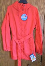 NWT Women's Columbia Spring Run RED Belted Trench Coat Jacket, Size Large
