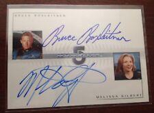 Babylon 5 Double Autograph DA1 Bruce Boxleitner and Melissa Gilbert
