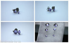 Tanzanite Stud Round Costume Earrings
