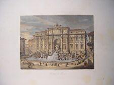 Italia. Roma «Fontana di Trevi» . Intagliatore romano Domenico Amici (engraving)