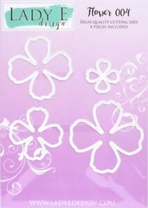 Lady E Design Flower 004 Cutting Die Set, for Paper and Foamiran