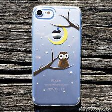 MADE IN JAPAN Soft Clear TPU Case Cute Owl for iPhone 7