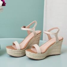 Womens High Wedge Heels Sandals Pumps Ankle Strap Open Toe Sexy Daily Shoes Chic