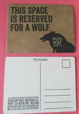 Micro Brewery Quebec Canada Coaster Loup Rouge Beer Mat Red Wolf