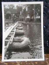 Photo argentique guerre 39 45 soldat Allemand wehrmacht WWII 2 Pont flottant