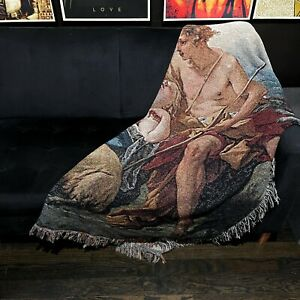 Custom woven 'Daphnis & Chloe' Boucher throw blanket  Vivienne westwood inspired