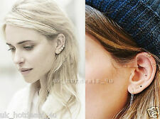 Rose Gold Cartilage Earring Rook Helix Cuff Tragus Hoop Nose Stud Nose Ring Hoop