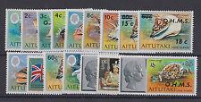 AITUTAKI 1978-79 OFFICIALS SET SG O1-O16 16v MNH.