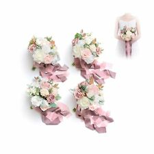 New ListingLing's moment Dusty Rose 7 Inch Artificial Flowers Wedding Bouquet for Brides.